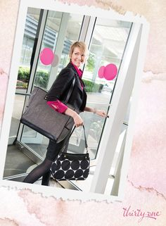 Show off your smile … and your Suite Skirt Purse and Cindy Tote! www.mythirtyone.com/courtney
