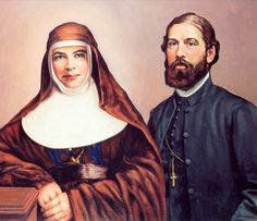 Artist Reg Campbell's painting of Mary MacKillop and Fr Julian Tenison Woods