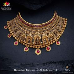 Jewelry Design Earrings, Gold Jewellery Design, Necklace Designs, Gold Temple Jewellery, Jewelry Sets, Silver Jewelry, Antic Jewellery, Antique Jewelry, Antique Gold