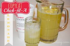 Copycat Chick-fil-A Lemonade?!?? I can't believe it, nobody can make it as good as Chick-fil-A