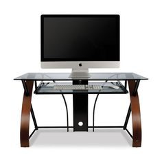 Keira Glass Office Desk Computer Table