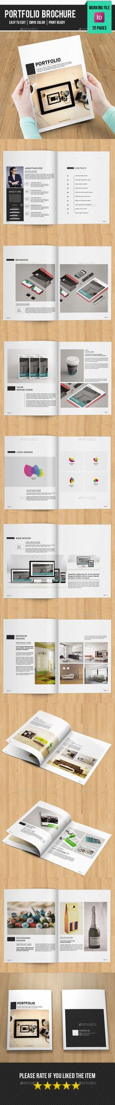 Minimal Interior & Architecture Portfolio Brochure Template InDesign ...