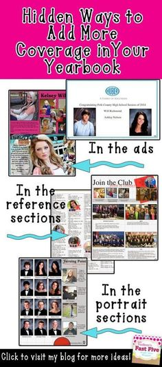 Faulkner's Fast Five: Growing Yearbook Coverage: 5 Easy Ways to Include More Students Middle School Yearbook, Yearbook Class, Yearbook Pages, Yearbook Spreads, Yearbook Layouts, Yearbook Design, Yearbook Photos, Yearbook Ideas, Yearbook Theme