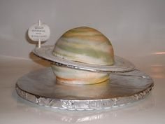 Saturn birthday Cake for a space birthday party food