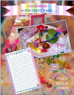 ALICE in WONDERLAND PRINTABLE Game Sheets - Old Fashion Tray Game - Instant Download - Bella Bella Studios
