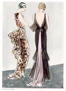 Illustrated by Eric 1931- Cheruit & Lucien Lelong dress