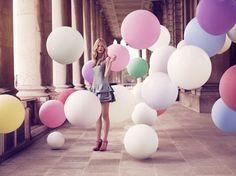 девушка с воздушными шарами - Поиск в Google