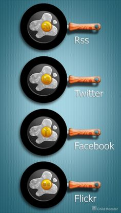 Iconos sociales cocina  redes sociales, iconos, social media, plantatercera, blog, cocina