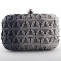 Devina Juneja triangle weave clutch - hand shaded ombre leather with triangle weave  -visit us at www.devinajuneja.com
