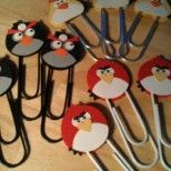 """Here are my Angry Bird bookmarks...I made these for a booth I participated in. They """"flew"""" off my table!! Thank you to Niki Toll for her great card inspiration. You can see her details at her blog: http://www.stampinwithniki.blogspot.com/"""