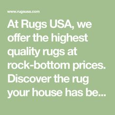 At Rugs USA, we offer the highest quality rugs at rock-bottom prices. Discover the rug your house has been missing and visit us today. Distressed Persian Rug, Oversized Area Rugs, 8x10 Area Rugs, Rock Bottom, Rugs Usa, Deal Today, Contemporary Rugs, Decorating Ideas, Decor Ideas