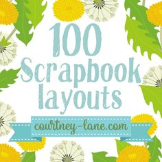 Courtney Lane Designs: 100 Scrapbook Layouts - Crafts For The Times Album Scrapbook, Papel Scrapbook, Scrapbook Layout Sketches, Scrapbook Templates, Scrapbook Journal, Scrapbook Designs, Scrapbook Paper Crafts, Baby Scrapbook Layouts, Scrapbook Frames