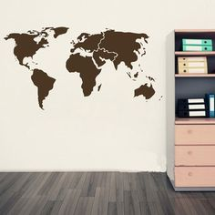 Large vintage world map canvas prints downstairs loo pinterest cheap decoration sticker wall buy quality sticker tape directly from china stickers list suppliers high quality wall stickers material pvc large size gumiabroncs Images