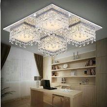 ВЕЛО Из Нержавеющей стали современные хрустальные потолочный светильник lamparas де techo luminaras sala украшения дома освещение для гостиной