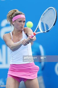 Camila Giorgi of Italy returns a shot during the semi final match against Alison Riske of United States during Day 6 of 2017 WTA Shenzhen Open at.Camila Giorgi Stock Photos andCamila Giorgi Photos et images de collection Camila Giorgi, Female Volleyball Players, Tennis Players Female, Sport Gymnastics, Artistic Gymnastics, Giorgi Tennis, Crotch Shots, Wimbledon Tennis, Beautiful Athletes