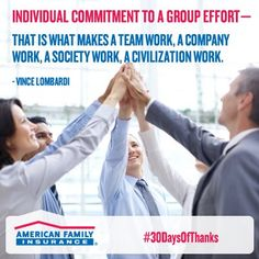 When is the last time you've thanked that person next to you in your cube?How about a high-five for coworkers who have your back?    https://www.facebook.com/amfam