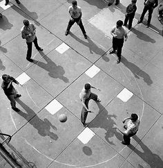Arthur Leipzig - Dodge Ball, 1950.  American photographer perhaps best known for his photo essays on New York life in the 1940's and 50's.