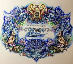 """""""Enchanted Forest"""" colouring book"""