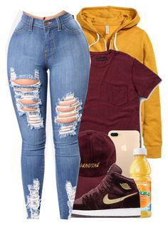 """""""Child, you are golden"""" by melanin-avii ❤ liked on Polyvore featuring H&M, Dr. Martens and NIKE"""
