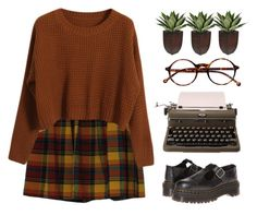 """Erin"" by chelseapetrillo ❤ liked on Polyvore featuring Chicnova Fashion, Dr. Martens and Retrò"