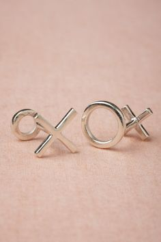 X and O Cufflinks in Gifts For the Groom at BHLDN