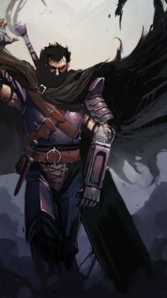 I know I've already got this on my Berserk board, but HOT DAMN do I ever love Guts' character design.