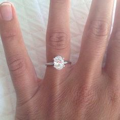 1.10ct J-SI2 Oval Diamond Engagement Ring GIA certified 18kt White Gold JEWELFORME BLUE