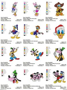 Donald, Goofy, Dora - 58 embroidery designs - Free Machine Embroidery Designs Download