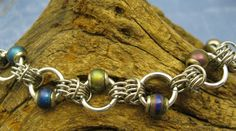Groovy Chainmaille Bracelet With Mood Beads by youvegotmaille, $35.00