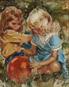 Charles Antal Roka, Lekende barn / Maleri / Nettauksjon / Blomqvist - Blomqvist Kunsthandel Children, Painting, Fictional Characters, Art, Young Children, Art Background, Boys, Kids, Painting Art