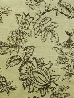 FRENCH COUNTRY CHESTNUT #brown-earth-tones #jacobean #print-fabrics
