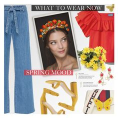 """""""Spring Mood"""" by beautifulplace ❤ liked on Polyvore featuring J Brand, Gucci, BCBGeneration, Marni and Dolce&Gabbana"""