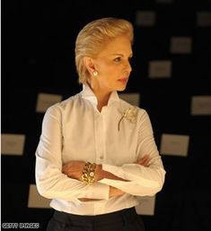 Carolina Herrera - one of my favorite classic designers - always stylish, feminine, strong, and gorgeous.  #wardrobechallenge