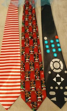 cfbb351cf614 Men's Polyester Ties New Lot of 3 Valentines Day Christmas Holidays Remote  T54 #fashion #