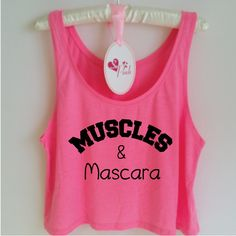 Muscles and Mascara. Funny Gym Tank Top. Workout Tank. Gym Vest. Workout Shirt. Gym Shirt. Strong Girl. Muscles Tank. by SoPinkUK on Etsy