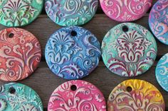 clay pendants painted damask diy necklaces sculpey oven bake hard white fimo flower flourishes (21).JPG
