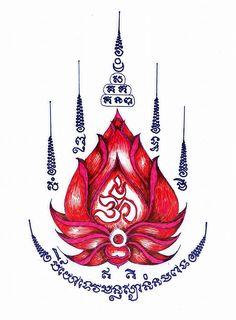 ยัน Tatuagem Sak Yant, Sak Yant Tattoo, Maori Tattoos, Cambodian Tattoo, Khmer Tattoo, Hawaiian Tribal Tattoos, Samoan Tribal Tattoos, Lotus Tattoo Design, Tattoo Designs