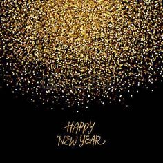 Awesome Golden Glitter Happy New Year Card 2018: Thereu0027s No Such Thing As Too Much  Glitter, Especially On New Yearu0027s Eve! Want To Help Someone Close To Youu2026