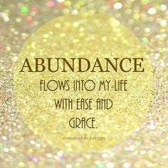 Abundance With optimal health often comes clarity of thought. Click now to visit my blog for your free fitness solutions!