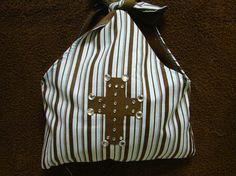 Stripe Cross Purse