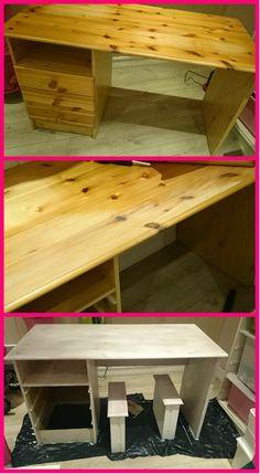 HJERTEHJORT: Vår mest bestemte kunde så langt! :) ReDesign of a desk for a 6 year old girl!