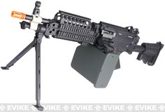 Matrix Full Metal MK46 Airsoft Machine Gun with Retractable Stock by A&K, Airsoft Guns, Airsoft Electric Rifles, Matrix (Exclusives) - Evike.com Airsoft Superstore