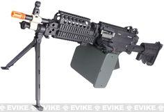 Matrix Full Metal MK46 Airsoft Machine Gun with Retractable Stock by A&K, Airsoft Guns, Airsoft Electric Rifles, Matrix (Exclusives) - Evike.com Airsoft Superstore