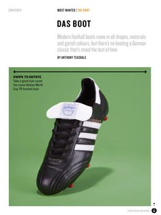 My piece for Esquire Weekly on the Adidas World Cup football boot