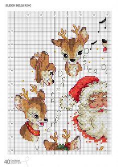 ideas embroidery patterns cross stitch crossstitch natale for 2019 Santa Cross Stitch, Cross Stitch Animals, Cross Stitch Christmas Ornaments, Christmas Cross, Cross Stitch Designs, Cross Stitch Patterns, Cross Stitching, Cross Stitch Embroidery, Christmas Embroidery Patterns
