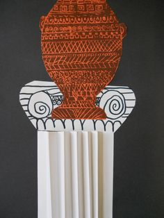 The Elementary Art Room!: Greek Vases - love the print idea - not so much the columns for my class