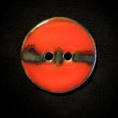"Ceramic Button: Meteor Series. Porcelain, metallic saturate. 1-3/8"""