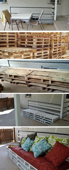 Pallet Patio Furniture  |  DIY Patio Furniture  |  Reusing Pallets