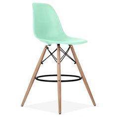 Charles Eames Style Aqua Sky DSW Stool | Cult Furniture UK