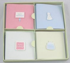 Die Cut Mini Gift Tags Cards with Envelopes 16 Count (Pastel Birthday) -- See this great product.
